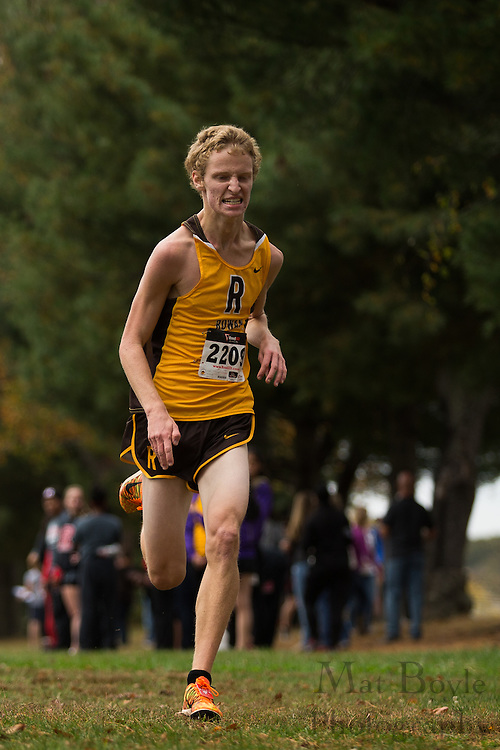 Rowan University Aaron Dubinski - Collegiate Track Conference  Cross-Country Men's Championship at Gloucester County College in Sewell, NJ on Saturday October 19, 2013. (photo / Mat Boyle)