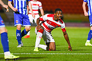 Doncaster Rovers forward Niall Ennis (31) reacts during the EFL Sky Bet League 1 match between Doncaster Rovers and Blackpool at the Keepmoat Stadium, Doncaster, England on 17 September 2019.