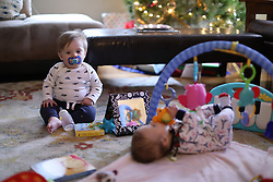 """Gemma Marie had her 4 month checkup with Dr. Lacy Ochs. Her vitals were 12 lbs 11 ounces, 24"""", and cranium circumference 37 cm, Monday, Dec. 18, 2017 at East Louisville Pediatrics in Louisville."""