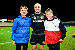 Jack Nowell of Exeter Chiefs with Exeter Chiefs fans - Mandatory by-line: Dougie Allward/JMP - 30/11/2019 - RUGBY - Sandy Park - Exeter, England - Exeter Chiefs v Wasps - Gallagher Premiership Rugby