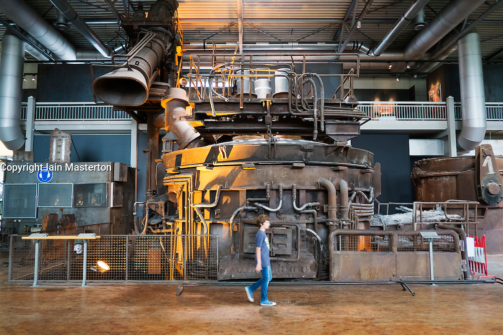 Blast furnace exhibit at Deutsche Arbeitsschutzausstellung DASA or German Museum of Occupational Health and Safety in Dortmund Germany