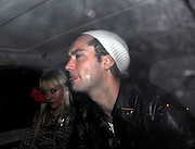 18.JANUARY.2007. LONDON<br /> <br /> A VERY DRUNK LOOKING JUDE LAW LEAVING RONNIE SCOTTS IN SOHO AT 3.00AM AND IN THE CAR CAR WITH HIM IS A MYSTERT BLONDE LADY.<br /> <br /> BYLINE: EDBIMAGEARCHIVE.CO.UK<br /> <br /> *THIS IMAGE IS STRICTLY FOR UK NEWSPAPERS AND MAGAZINES ONLY*<br /> *FOR WORLD WIDE SALES AND WEB USE PLEASE CONTACT EDBIMAGEARCHIVE - 0208 954 5968*