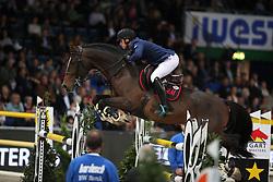Philippaerts Olivier, (BEL), H&M Armstrong van de Kapel<br /> Grand Prix of Stuttgart <br /> Longines FEI World Cup<br /> Stuttgart - German Masters 2015<br /> © Hippo Foto - Stefan Lafrentz