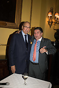 DESMOND DE SILVA, ANDREI NAVROZOV, Launch hosted by Quartet books  of Madam, Where Are Your Mangoes? by Sir Desmond de Silva at The Carlton Club. London. 27 September 2017.