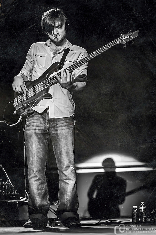 Zach Steiner on bass for Sue DaBaco at Pridefest Milwaukee. Photo by Jennifer Rondinelli Reilly.