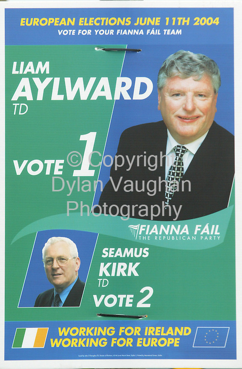 24/5/2004.SLiam Aylward and Seamus Quirke election Campaign Poster..Picture Dylan Vaughan