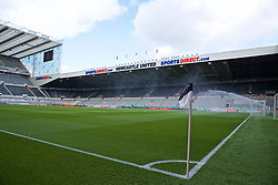 NEWCASTLE-UPON-TYNE, ENGLAND - Saturday, May 4, 2019: A general view of Newcastle United's St James' Park ahead of the FA Premier League match between Newcastle United FC and Liverpool FC. (Pic by David Rawcliffe/Propaganda)