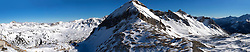 27-01-2017 AUT: BvdGF wintersportkamp dag 3, Obertauern<br /> Het 7de jaar wintersportkamp van de BvdGF is verhuisd naar Obertauern. Prachtige pistes, geweldig jeugdhotel en fantastisch weer maakt er weer een onvergetelijk kamp van / Panorama