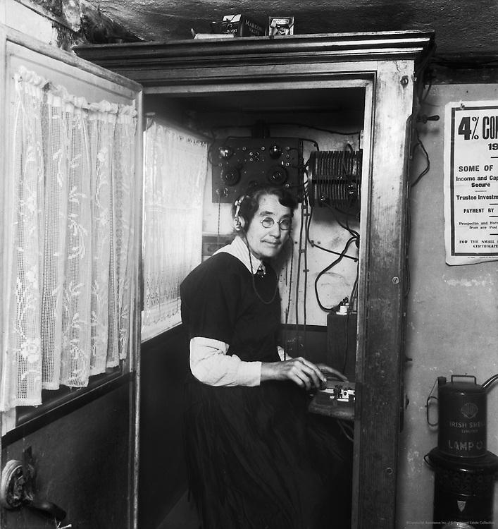 Miss Maggie Dougan, Postmistress and Wireless Operator, Tory Island, Ireland, 1937