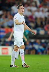England's Phil Jones (Manchester United) - Photo mandatory by-line: Joe Meredith/JMP - Mobile: 07966 386802 - 08/09/14 - SPORT - FOOTBALL - Switzerland - Basel - St Jacob Park - Switzerland v England - Uefa Euro 2016 Group E Qualifier