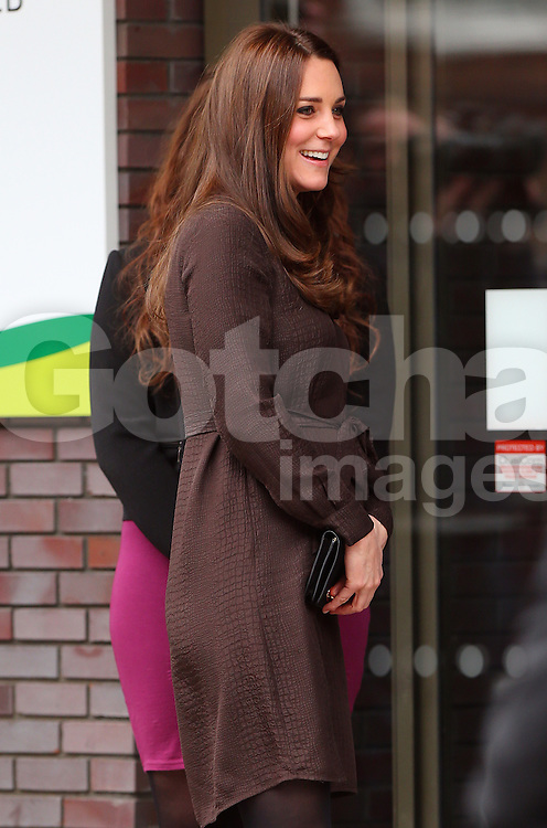 Catherine, Duchess of Cambridge visits The Fostering Network at the Children's Services in London, UK. 16/01/2015<br />BYLINE MUST READ : JAMESY/GOTCHA IMAGES<br /><br />Copyright by © Gotcha Images Ltd. All rights reserved.<br />Usage of this image is conditional upon the acceptance <br />of Gotcha Images Ltd, terms and conditions available at<br />www.gotchaimages.com