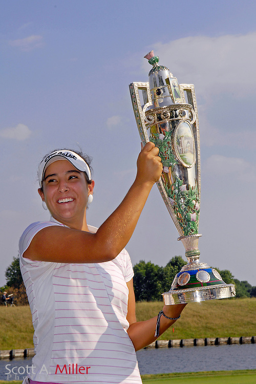 Amateur golfer Maria Jose Uribe celebrates winning the U.S. Women's Amateur at Crooked Stick Golf Club on Aug. 12, 2007 in Carmel, Ind....©2007 Scott A. Miller