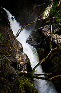 Location Interlaken (Switerland) Photographer: Christophe Margot<br /> Date: 29 June 2008<br /> Athlete: Seppi Strohmeier/Team IBEX <br /> Description:Action Kayak