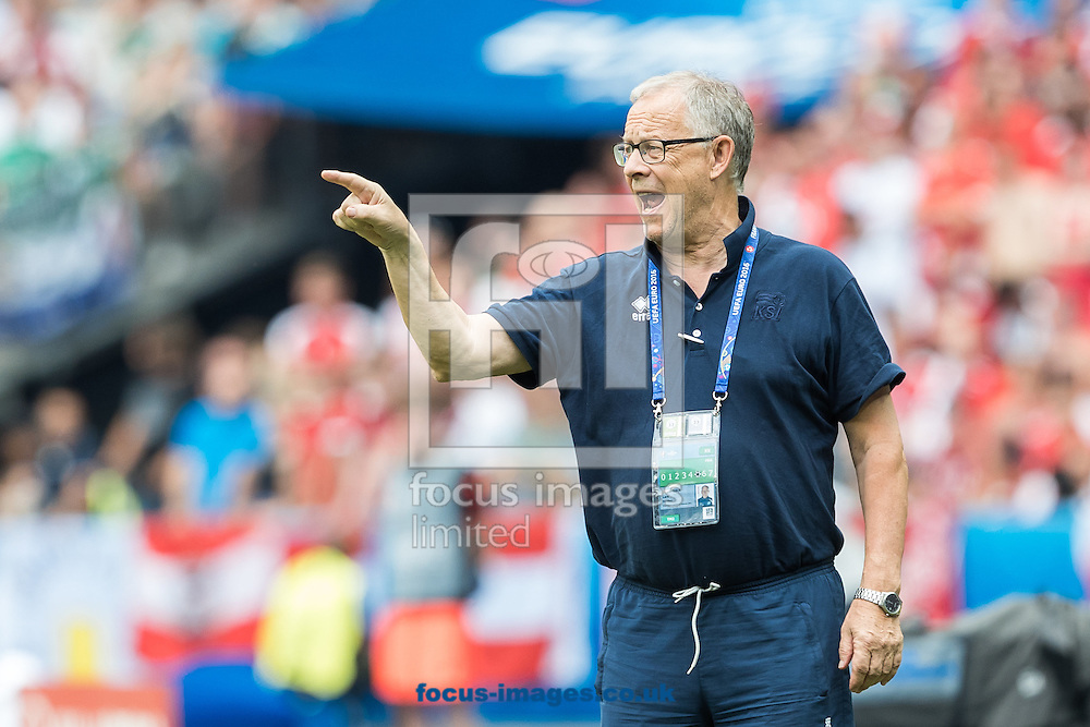 Manager Lars Lagerbaeck of Iceland during the UEFA Euro 2016 match at Stade Velodrome, Marseille, France.<br /> Picture by EXPA Pictures/Focus Images Ltd 07814482222<br /> 22/06/2016<br /> *** UK &amp; IRELAND ONLY ***<br /> EXPA-FEI-160622-5035.jpg