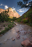 Virgin River,Zion National Park, located in the Southwestern United States, near Springdale, Utah.