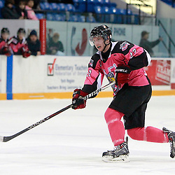 NEWMARKET, ON - Feb 9 : Ontario Junior Hockey League Game Action between the St. Michaels Buzzers and the Newmarket Hurricanes, Ryan Kruss #22 of the Newmarket Hurricanes Hockey Club.<br /> (Photo by Brian Watts / OJHL Images)