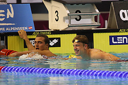 20.08.2014, Europa Sportpark, Berlin, GER, LEN, Schwimm EM 2014, 200m, Lagen, Männer, Finale, im Bild Markus Deibler, Philip Heinz (Deutschland) // during the final of men's 200m Medley of the LEN 2014 European Swimming Championships at the Europa Sportpark in Berlin, Germany on 2014/08/20. EXPA Pictures © 2014, PhotoCredit: EXPA/ Eibner-Pressefoto/ Lau<br /> <br /> *****ATTENTION - OUT of GER*****