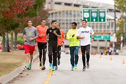 CVS Health Downtown 5k, USA 5k road championship, elite men warm up, McDougal, Batty, Centrowitz, Estrada, Macheso,