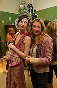 Erin O'Connor and Cat Deeley, Matthew Williamson shop opening, 28 Bruton St. 28 April 2004. ONE TIME USE ONLY - DO NOT ARCHIVE  © Copyright Photograph by Dafydd Jones 66 Stockwell Park Rd. London SW9 0DA Tel 020 7733 0108 www.dafjones.com