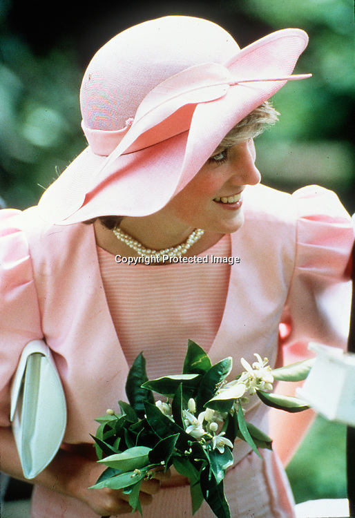 Diana wearing a John Boyd hat <br />Photo Anwar Hussein