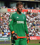 Dorus de Vries during the Sky Bet Championship match between Bolton Wanderers and Nottingham Forest at the Macron Stadium, Bolton, England on 22 August 2015. Photo by Mark Pollitt.
