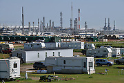 Hess Gas Plant in Tioga, North Dakota, just east of Williston.<br /> <br /> North Dakota oil boom. Based around the town of Williston, hydraulic fracturing, also known as 'fracking' has enabled a vast reserve of previously unobtainable oil to be accessed.