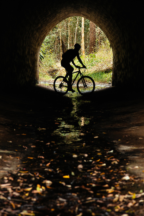 A unique tunnel which is a heritage point along the Brisbane Valley Rail Trail between Linville and Blackbutt. The rail line goes above this drain/creek line.