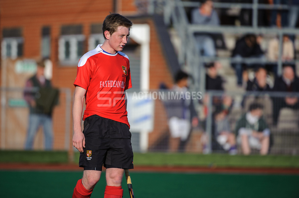 Robert Field of Holcombe during their match against Beeston in the England Hockey Men's Cup