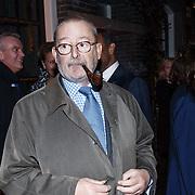 NLD/Amsterdam/20131114 - 10 jarig bestaan Louis Vuitton Nederland, Patrick Louis Vuitton met pijp