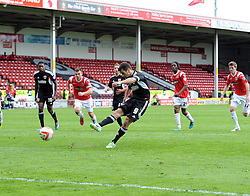 Bristol City's Sam Baldock scores his penalty  - Photo mandatory by-line: Joe Meredith/JMP - Mobile: 07966 386802 12/04/2014 - SPORT - FOOTBALL - Walsall - Banks' Stadium - Walsall v Bristol City - Sky Bet League One