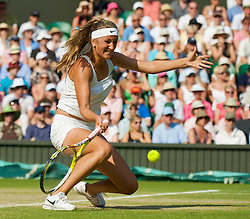 LONDON, ENGLAND - Tuesday, June 30, 2009: Victoria Azarenka (BLR) during the Ladies' Singles Quarterfinal on day eight of the Wimbledon Lawn Tennis Championships at the All England Lawn Tennis and Croquet Club. (Pic by David Rawcliffe/Propaganda)