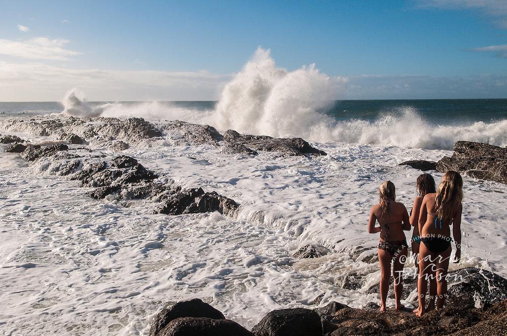 Teenage girls at Snapper Rocks, Gold Coast, Queensland, Australia