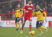 Sheffield United Keiron Freeman on the ball during the Sky Bet League 1 match between Crawley Town and Sheffield Utd at the Checkatrade.com Stadium, Crawley, England on 28 February 2015. Photo by Phil Duncan.
