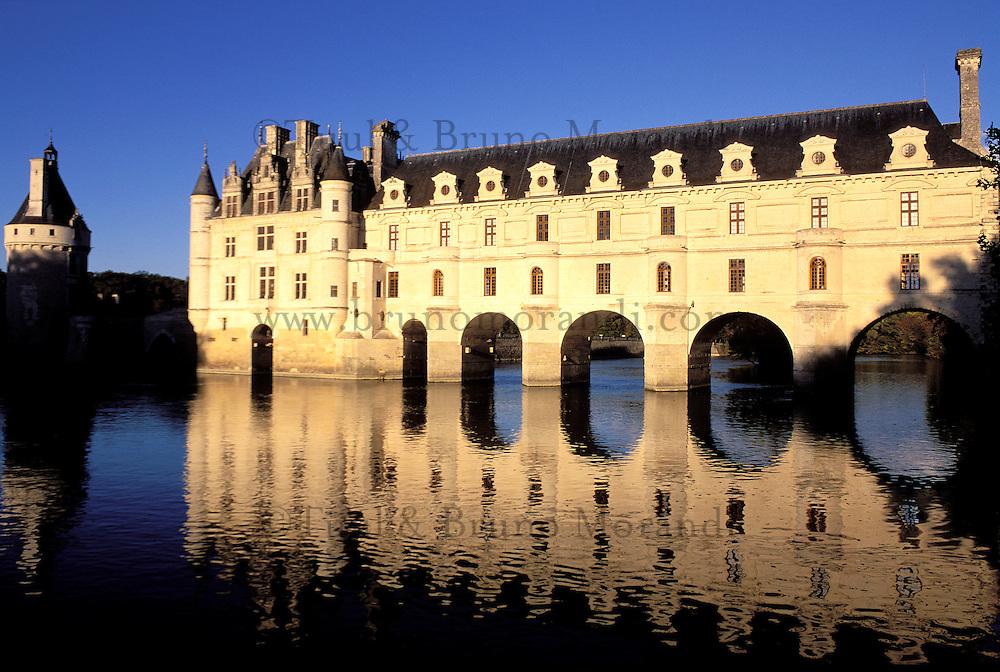 France, Pays de Loire, Indre et loire, Château de Chenonceau // Chenonceau Castle, Indre and Loire department, Loire region, France