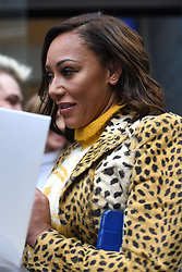 Spice Girls Melanie Brown outside Global Radio studios in Leicester Square, London.
