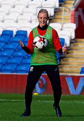 CARDIFF, WALES - Thursday, November 23, 2017: Wales' captain Sophie Ingle during a training session ahead of the FIFA Women's World Cup 2019 Qualifying Round Group 1 match between Wales and Kazakhstan at the Cardiff City Stadium. (Pic by David Rawcliffe/Propaganda)
