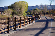 Bike Rider on Trail in Canyon Country of Santa Clarita