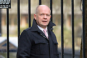 © Licensed to London News Pictures. 12/03/2013. Westminster, UK. William Hague, Conservative MP, Secretary of State for Foreign and Commonwealth Affairs. Ministers in Downing Street today 12 March 2013. Photo credit : Stephen Simpson/LNP