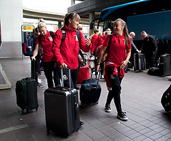 LONDON, ENGLAND - Thursday, September 14, 2017: Wales' Natasha Harding arrives at Heathrow Airport as the squad travel to Kazakhstan ahead of the FIFA Women's World Cup 2019 Qualifying Round Group 1 match against Kazakhstan. (Pic by David Rawcliffe/Propaganda)