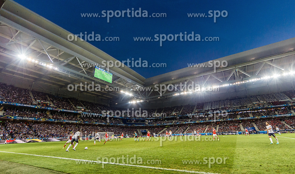 19.06.2016, Stade Pierre Mauroy, Lille, FRA, UEFA Euro, Frankreich, Schweiz vs Frankreich, Gruppe A, im Bild Uebersicht // Uebersicht during Group A match between Switzerland and France of the UEFA EURO 2016 France at the Stade Pierre Mauroy in Lille, France on 2016/06/19. EXPA Pictures © 2016, PhotoCredit: EXPA/ JFK