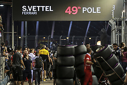 September 16, 2017 - Singapore, Singapore - Motorsports: FIA Formula One World Championship 2017, Grand Prix of Singapore, ..49th Pole of #5 Sebastian Vettel (GER, Scuderia Ferrari) (Credit Image: © Hoch Zwei via ZUMA Wire)