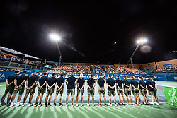 Referees during the Trophy ceremony after the Final Singles match at Day 9 of ATP Challenger Zavarovalnica Sava Slovenia Open 2018, on August 11, 2018 in Sports centre, Portoroz/Portorose, Slovenia. Photo by Vid Ponikvar / Sportida