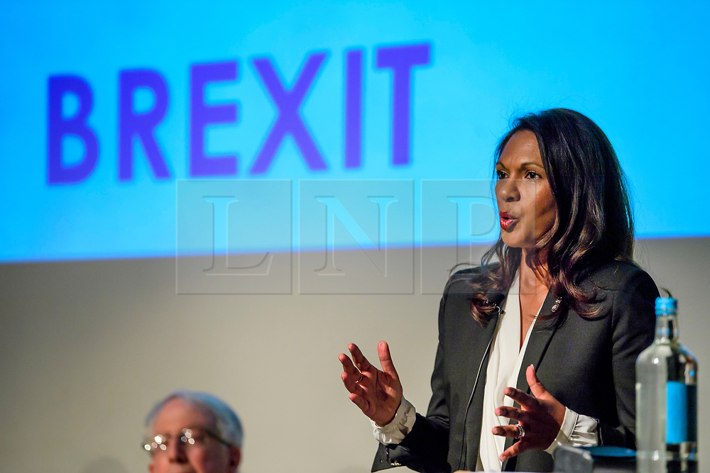 © Licensed to London News Pictures. 02/05/2017. London, UK. Lead claimant in the Article 50 legal case GINA MILLER taking part in a discussion titled How to Brexit: The Best Deal for Britain, hosted by the The how to: Academy, in West London. Photo credit: Ben Cawthra/LNP