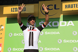 Michael Matthews (AUS) Team Sunweb retains the Green Jersey at the end of Stage 18 of the 104th edition of the Tour de France 2017, running 179.5km from Briancon to the summit of Col d'Izoard, France. 20th July 2017.<br /> Picture: Eoin Clarke | Cyclefile<br /> <br /> All photos usage must carry mandatory copyright credit (© Cyclefile | Eoin Clarke)