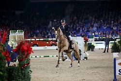 Clee Joe, (GBR), Fento Chin S <br /> Grand Prix Topsport Vlaanderen<br /> Vlaanderen Kerstjumping - Memorial Eric Wauters - <br /> Mechelen 2015<br /> © Hippo Foto - Dirk Caremans<br /> 29/12/15