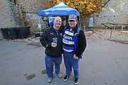 Bath fans getting ready for the game before the Aviva Premiership match between Bath Rugby and Gloucester Rugby at the Recreation Ground, Bath, United Kingdom on 29 October 2017. Photo by Gary Learmonth.