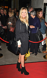 Laura Whitmore attends the opening night of Fire in the Ballroom by dance company Burn the Floor at The Peacock in London.