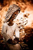 Zimsculpt at Van Dusen Botanical Garden: Humble Woman - springstone sculpture by Patrick Sephani (original sculpture available at www.zimsculpt.com)