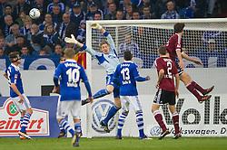 19.11.2011, Veltins Arena, Gelsenkirchen, GER, 1. FBL, FC Schalke 04 vs 1. FC Nuernberg, im Bild Lars Unnerstall (#36 Schalke) gegen Timm Klose (#15 Nuernberg) vor dem Tor // during FC Schalke 04 vs. 1. FC Nuernberg at Veltins Arena, Gelsenkirchen, GER, 2011-11-19. EXPA Pictures © 2011, PhotoCredit: EXPA/ nph/ Kurth..***** ATTENTION - OUT OF GER, CRO *****