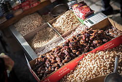 5 October 2018, Jerusalem: Dates and nuts for sale in the Jerusalem old town.